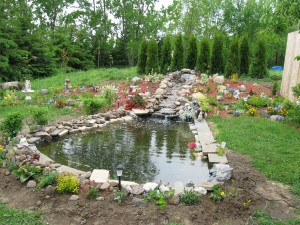 building of the pond0026